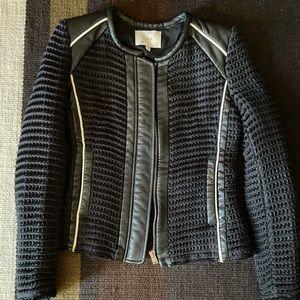 IRO Giana Leather Trim Waffle Jacket